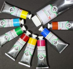 creamy and rich, potent color!  Old Holland Oil Paints