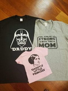 Disney Star Wars Inspired Matching Family T shirt Darth Vader Daddy, mom by GraphXVinylandMore on Etsy