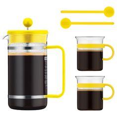 Bodum - 70 Years Yellow Bistro French Press Coffee Set | Peter's of Kensington
