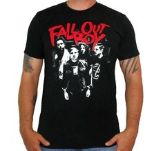 FALL OUT BOY (Punk Scratch Photo) Men's T-Shirt<<men's? does it look like i care? I. DON'T CARE. WHAT YOU THINK...