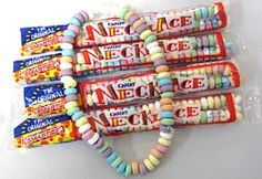 1970s candy necklace!  I loved wearing these. My favorite was yellow...banana. :)