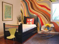 Colorful Abstract Graffiti Wall :: fun small room!