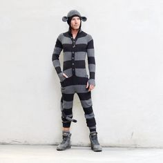 MONKEY SUIT for Men and Women - Adult One Piece Jumpsuit - Long Johns - Bendable Tail - Designer Spencer Hansen for Blamo Toys on Etsy, $226.00