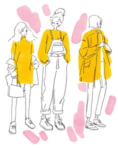 ideas fashion drawing illustration simple for 2019 Art Inspo, Art Sketches, Art Drawings, Outfit Drawings, Arte Fashion, Paper Fashion, Fashion Fashion, Fashion Dresses, Arte Sketchbook