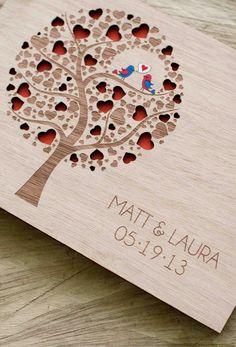 Personalizada boda invitado libro madera rústico por TotallySalinda