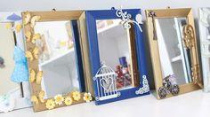 Artesanato Como Fazer Decoração em Espelhos Baratos -Reciclagem  DIY