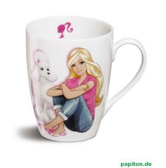 barbie+cups | Nici Barbie mug poodle Sequin et Barbie buy online at Papiton.