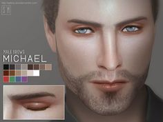 Created By Screaming Mustard [ Michael ] - Male Eyebrows Created for: The Sims 4 New male eyebrows for Sims. In 18 shades. Male Makeup, Eyebrow Makeup, Makeup Eyebrows, Sims 4 Cc Skin, Sims Cc, Eyebrow Styles, Sims 4 Cc Makeup, The Sims 4 Download, Male Eyes