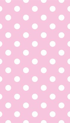 Large pink white polka dots iphone phone background wallpaper lock screen