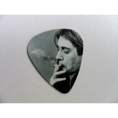 Handmade NIRVANA Double Sided Guitar Pick Plectrum Leather Necklace (€3,54) ❤ liked on Polyvore featuring jewelry, necklaces, leather necklaces, guitar pick jewelry, guitar pick necklace, long leather necklace and leather jewelry