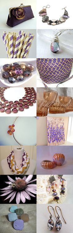 Subdued lavender and burnished gold by Carla on Etsy--Pinned with TreasuryPin.com