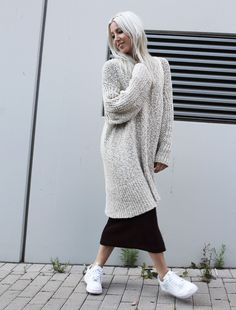 oversized, Knit, Knitwear, H&M, Nike, Look, casual, sporty, ootd, Outfit, Look, Style, Fashion, Blog, stryleTZ