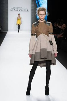 Michelle Lesniak Franklin Finale Coat with Attached Satchel - Project Runway (Season 11)