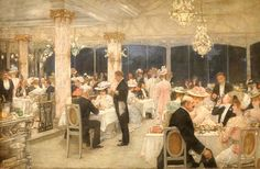 Un soir de grand prix au pavillon d'Armenonville - Henri Gervex - Henri Gervex - Wikipedia