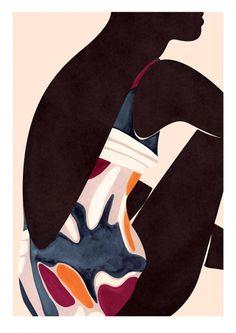 La Baignade at Sergeant Paper :). Black Girl Art, Black Art, Art Girl, Painting Inspiration, Art Inspo, Illustrator, Vintage Poster, The Design Files, Gouache Painting
