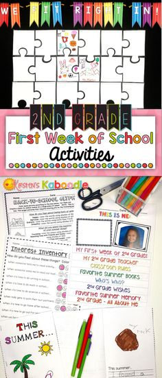 Are you teaching 2nd grade? These back to school activities are easy to use and are created especially for 2nd grade (other grade levels available... click the link and find them in the product description). This beginning of the year activity product includes a glyph, a STEM challenge, a flip book, a mini-book, an interest inventory, and a beginning of the year bulletin board activity. Start your year off on the right foot with these easy to use, get to know you activities for your…