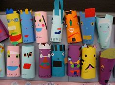 Paper Tube recycle art from Japan :)