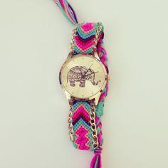 Elephant Dial Thread Watch - G