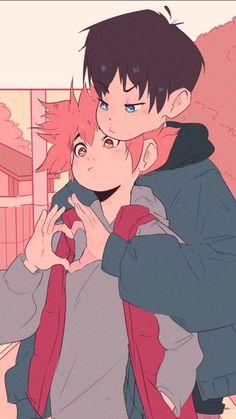 Best Collection of funny kagehina pictures on iFunny Haikyuu Manga, Haikyuu Funny, Haikyuu Fanart, Anime Ai, Fanarts Anime, Anime Characters, Manga Anime, Kagehina Cute, Kageyama X Hinata