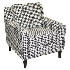 Houndstooth Chair- perfect for the Alabama room!