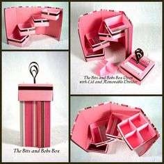 Pink and Chocolate Stripe Bits and Bobs Box by DaisyandFlorrie