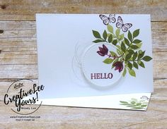 Flora Hello - Creativelee Yours Stampin Up Paper Pumpkin, Pumpkin Cards, All Paper, Card Sketches, Stampin Up Cards, Paper Crafts, Card Crafts, Birthday Cards, Flora