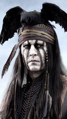 Johnny Depp The Lone Ranger Tonto iPhone 5 / 5S / 5C Wallpaper