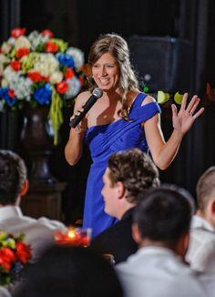 bridesmaid speech. Wedding at Arlington Heights United Methodist and The Fort Worth Club