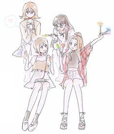 Sora, Kari, Meiko y Mimi Michi-Tami