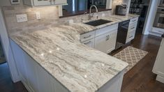 Fantasy Brown Quartzite Kitchen Countertop w/ Straight Edge.