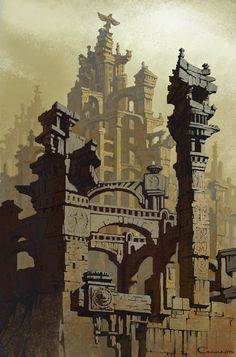 elegant times for no conversation — siryl: Architectural fantasies by Sergey Skachkov.