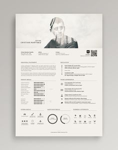 Damn cool resume! He mixed the double exposure for his profile photo.