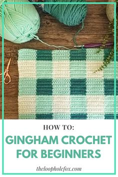 How to gingham crochet for beginners with this single crochet tutorial. You will learn to choose yarn colors, start a project, carry yarn & change color. Crochet Stitches For Beginners, Beginner Crochet Tutorial, Beginner Crochet Projects, Crochet Stitches Patterns, Crochet Basics, Knitting Patterns, Crotchet Patterns, Knitting Ideas, Crochet Unique