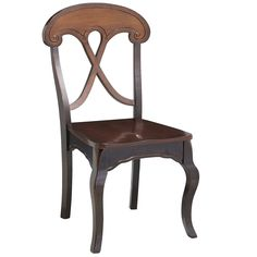 """<div class=""""hide-on-individual""""> <div>• Black/tobacco brown</div> <div>•  20.50""""W x 22""""D x 38.75""""H</div> <div>• Rubberwood, mango wood, plywood</div> <div>• Nylon glides</div>         <br> </div> <div class=""""hide-on-sets"""">Love. This. Chair. It's rustic and civilized at the same time. Comfy too, with a hardwood X-back and contoured seat. A scalloped apron, flirty cabriole legs and hand-applied, multi-layer distressed finish complete the picture, setting this design far apa..."""