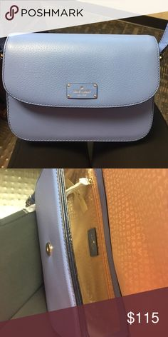 Kate Spade purse cute side body or shoulder bag! also opens in the front! looks very simple to the example but more round. kate spade Bags Shoulder Bags