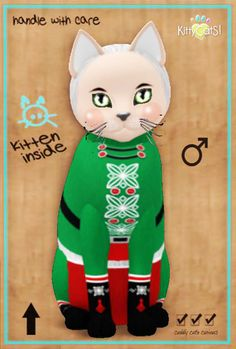 ♂ Green Gummie Boy ------------------------------  Fur: NutCracker SweetS! - Green Gummie Boy Eyes: Crystal Spring (Shape: Mysterious   Pupil: Big) Shade: Porcelain Tail: Curious Ears: Curious Whiskers: 2 Tone Black & White (Shape: Dreamy) Size: Normal
