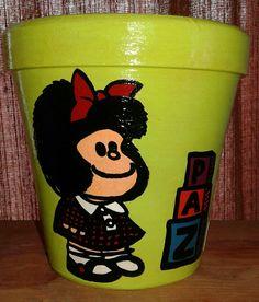 Maceta Mafalda Paz (verde manzana)