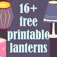 MeinLilaPark: Free printable DIY lanterns and luminaries - ausdruckbare Laternen - round-up Free Printable Planner Stickers, Printable Lables, Templates Printable Free, Free Printables, Paper Houses, Box Houses, Diwali Diy, Ramadan Crafts, Craft Free