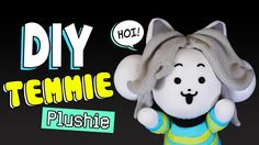DIY Temmie Plushie with Movable Arms! Undertale Sock Plushie (FREE Patte...