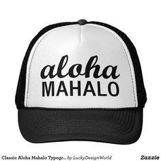 Tipografía clásica de Mahalo de la hawaiana