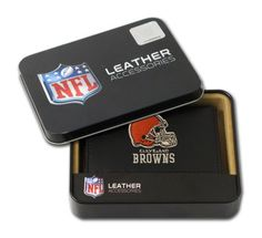 NFL Cleveland Browns Embroidered Genuine Leather Trifold Wallet * Read more reviews of the product by visiting the link on the image.