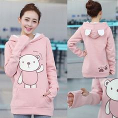 Kawaii animal printed coat jacket http://thingsfromjapan.net/kawaii-animal-printed-coat-jacket/ #kawaii hoodie #Japanese fashion #cute Japanese apparel