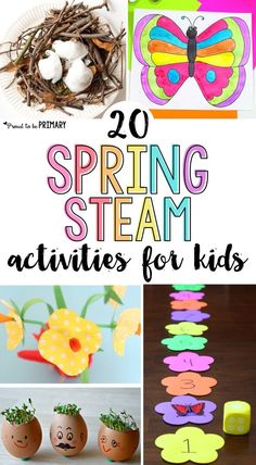 STEAM Into Spring! 20 Spring Activities for Kids is part of Kids Crafts Flowers Science Experiments 20 spring STEAM activities for kids Teach about flowers, butterflies, birds, and plants with arts - Steam Activities, Spring Activities, Kindergarten Activities, Activities For Kids, Science Activities, Preschool Ideas, Classroom Activities, Preschool Learning, Teaching Science