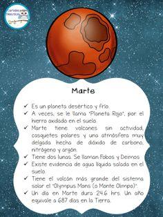 Magnifico cuaderno para trabajar el SISTEMA SOLAR Continuamos con un grupo de Facebook que realiza unos trabajos realmente impresionantes CARTELES DIDÁCTICOS que nos ha preparado un fantastico cuaderno para trabajar el SISTEMA SOLAR ... Science Fair, Science Lessons, Social Science, Science Projects For Kids, School Projects, Mars Facts, Mars Project, Cold Deserts, Solar System Model
