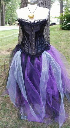 Diy ursula costume ursula halloween costumes and costumes purple and black corset tulle dress ursula costumecosplay corset top tulle tutu skirt solutioingenieria Image collections