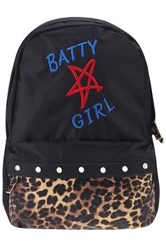 "Beaded ""Batty Girl"" Backpack #ROMWE"