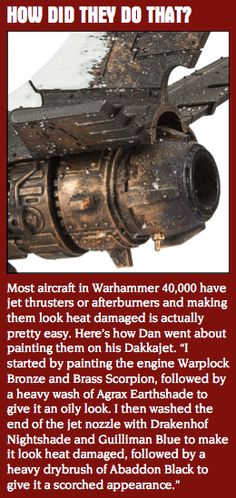 Afterburners and Jet Thrusters #Official #Gamesworkshop #Painting #Tips #Citadel…
