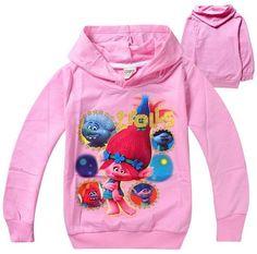 df3f815f6 kids clothes christmas tops trolls children t shirts long Outwear sleeves  clothing jacket 3 10 Years Girls hoodies sweatshirt-in Hoodies &  Sweatshirts from ...