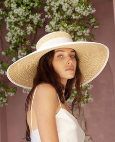 The Garners Wide Boater is crafted from natural straw and accented with white grosgrain that features a knot detailing at the back. Its wide brim is finished with a white bind. The adjustable drawstring inside can be used for a customised fit. Wheat Straw, Boater, Grosgrain, Panama Hat, Knot, Detail, Natural, Girls, Fashion