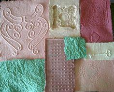 Decoupage Paper Handmade Art Paper Peach by ThresholdPaperArt
